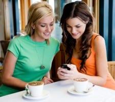 Mobiele telefoon koffie