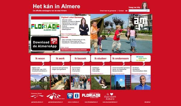 Gemeentewebsite Almere