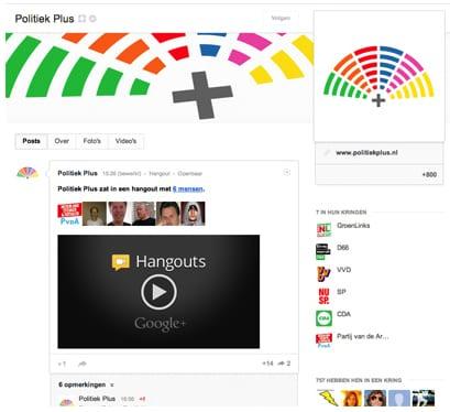 Google politieke hangouts