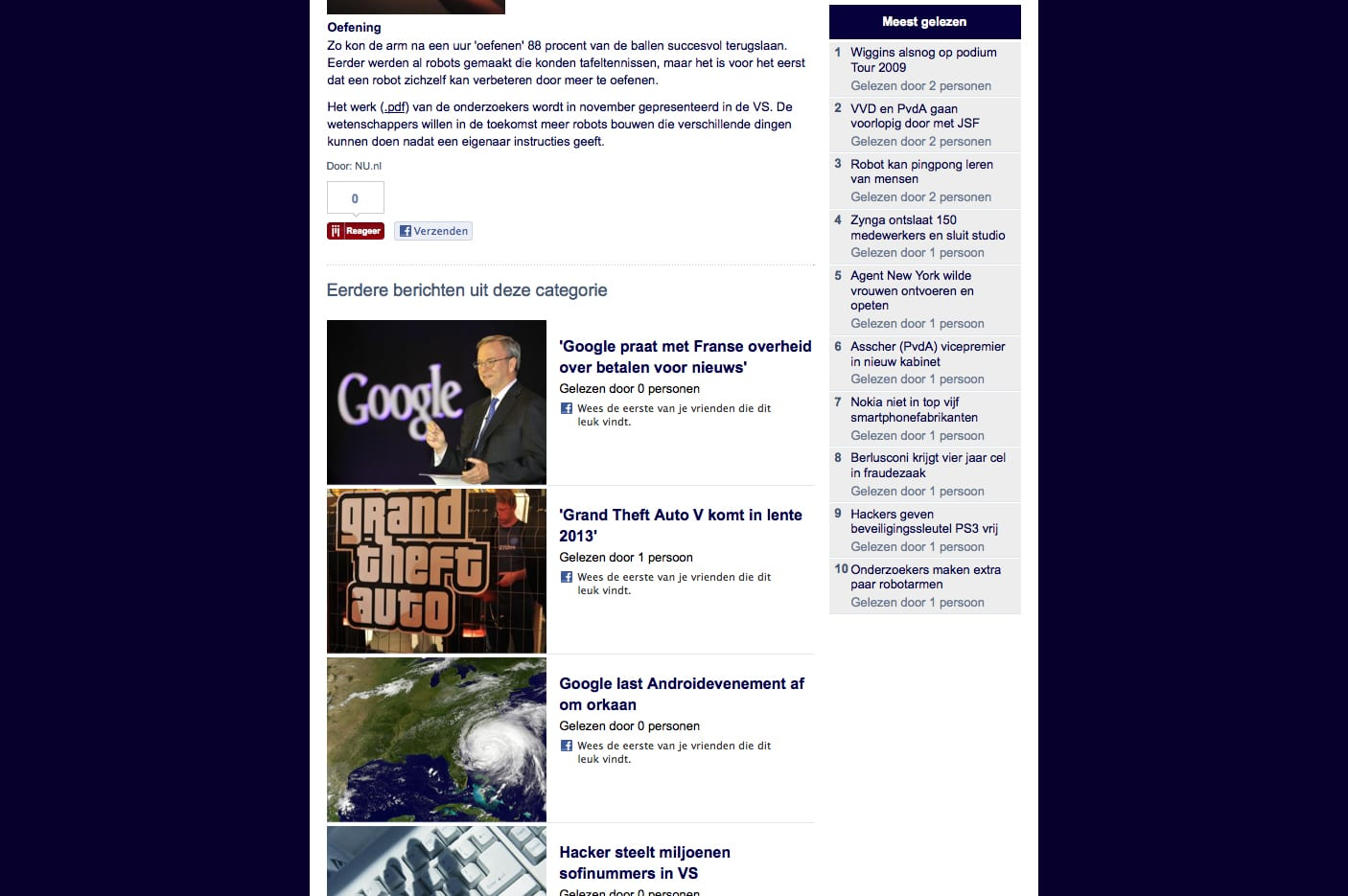 Nu.nl Social Reader