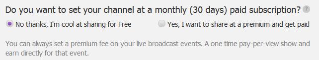 Pheed - betaalmodule per maand of per update