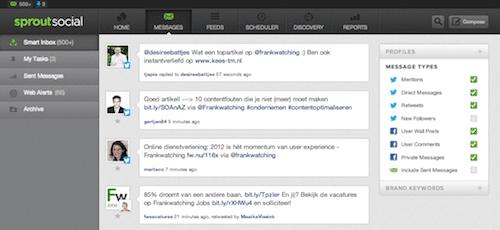 Twitter en Facebook management monitoring dashboard