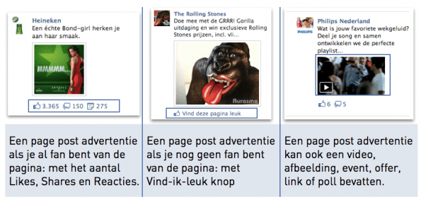 Adverteren op Facebook - voorbeeld promoted postings