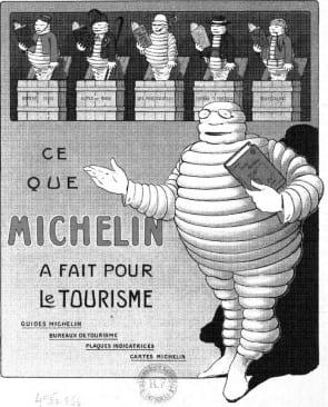 Een van de eerste Michelin gidsen