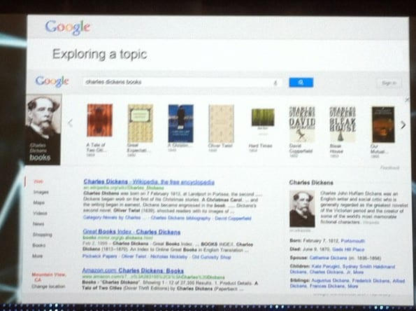Resultaat Knowledge Graph van google