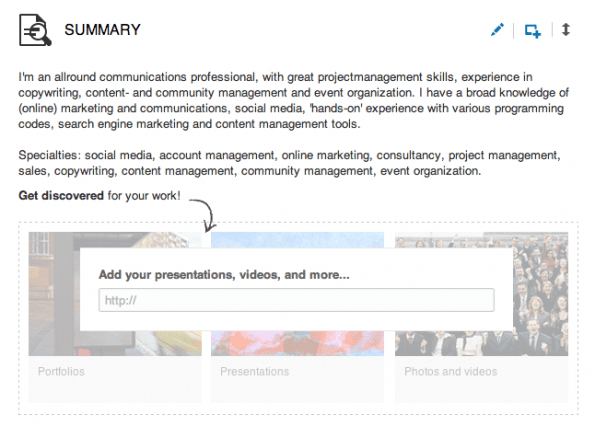Add media to your LinkedIn profile