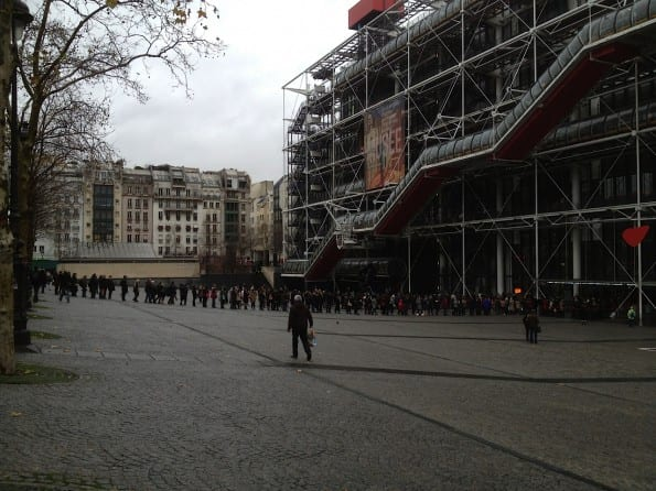Rij voor Centre Pompidou