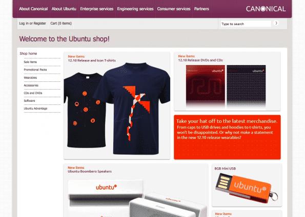 Ubuntu shop: geen duidelijke omschrijving van hun aanbod