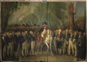 Schilderij De Intocht van Napoleon in Amsterdam