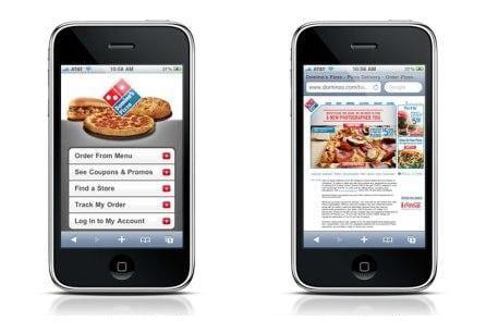 Mobile site vs gewone site