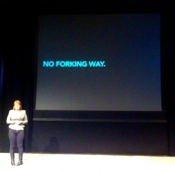 Karen Mc Grane: no forking way