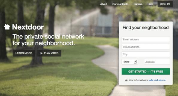 Sociaal netwerk Nextdoor