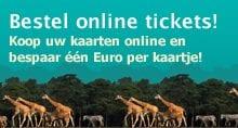 De actieknop van Burgers'Zoo lijkt op een banner