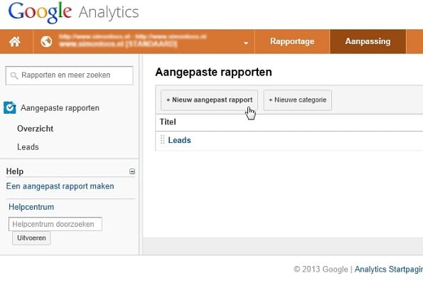leads Google Analytics