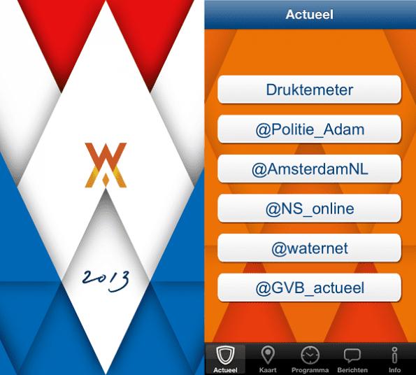 30APPril app startscherm