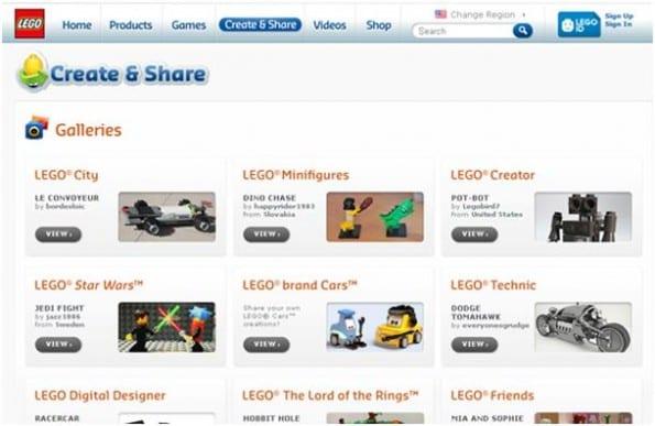 Create & share platform van LEGO