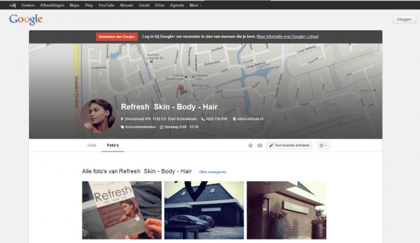 Google+ local pagina