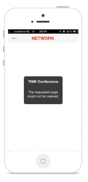 TNW mobile error