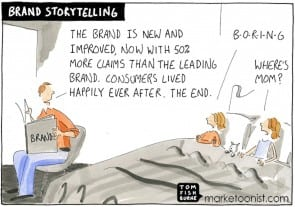 Cartoon Tom Fishburne - storytelling