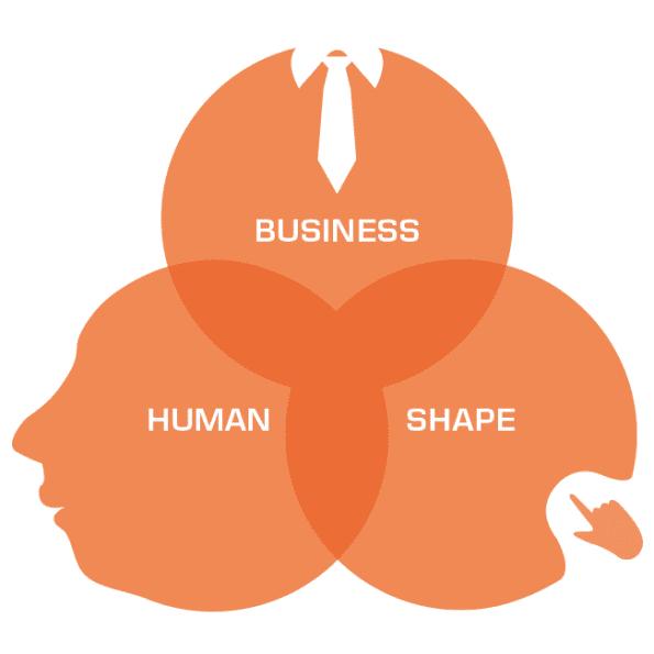Business human shape
