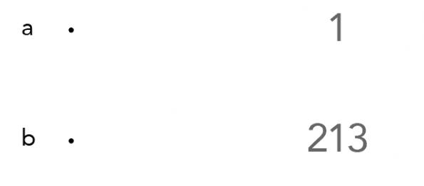 Figuur 3. Illustratie van crowding. Bovenste gedeelte van het figuur toont het getal 1, zonder getallen ernaast. Wanneer gekeken wordt op de stip linksboven zal, afhankelijk van de kijkafstand, het getal 1 eenvoudig te herkennen zijn. Wanneer vanaf dezelfde afstand gekeken wordt naar de stip linksonder, zal opvallen dat het getal 1 temidden van de 2 en de 3  dit keer een stuk lastiger te identificeren is, ondanks het feit dat kijkafstand en afstand tot de stip identiek zijn gebleven. Dit fenomeen wordt crowding genoemd.