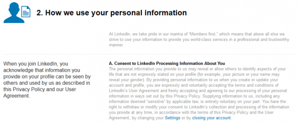 Privacy Policy Linkedin