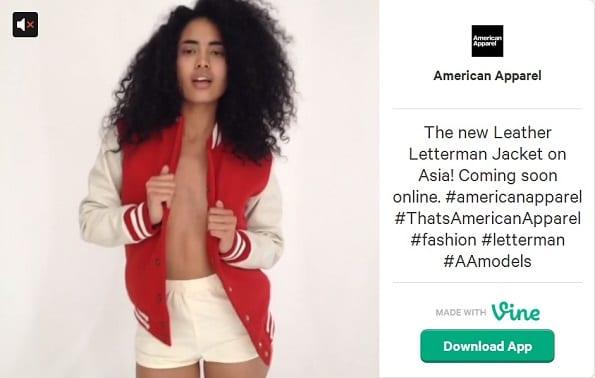 American Apparel laat nieuw jasje zien in uitdagende video.