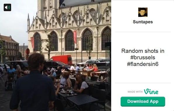 """In plaats van een """"ouderwetse"""" promotievideo, vraagt het Vlaams Verkeersbureau aan Vlamingen zelf om hun stad te laten zien in zes seconden. Op www.flandersin6.be meer voorbeelden."""