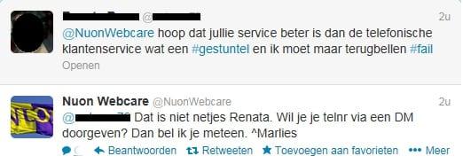 Tweet Nuon webcare
