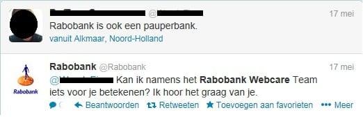 rabobank webcare tweet