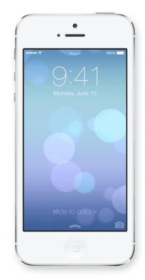 Het nieuwe lockscherm van iOS7