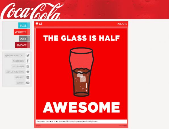 Coca-Cola vertaalt haar merkwaarden in beeld, gebruikt branding en spreekt de taal van de doelgroep.