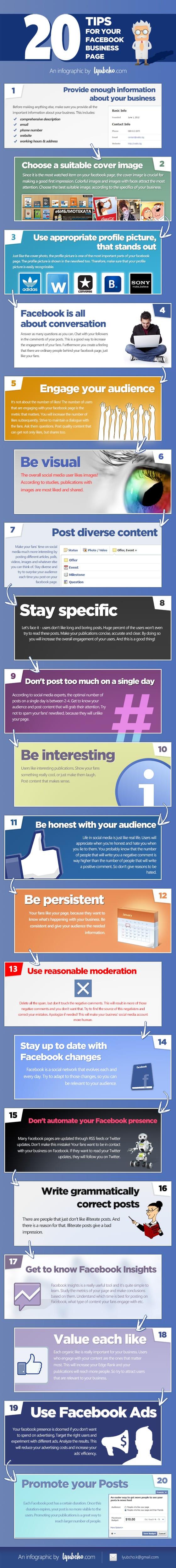 Aan de slag met je Facebook bedrijfspagina- 20 tips [infographic]
