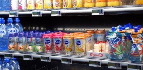 Digitale schaplabels bij tankstation De Lucht