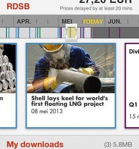 Shell IR & Media app (voor tablet, smartphone, iOS en Android beschikbaar).