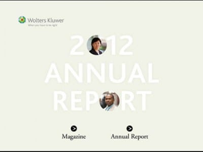 Wolters Kluwer Ipad Annual Report app.