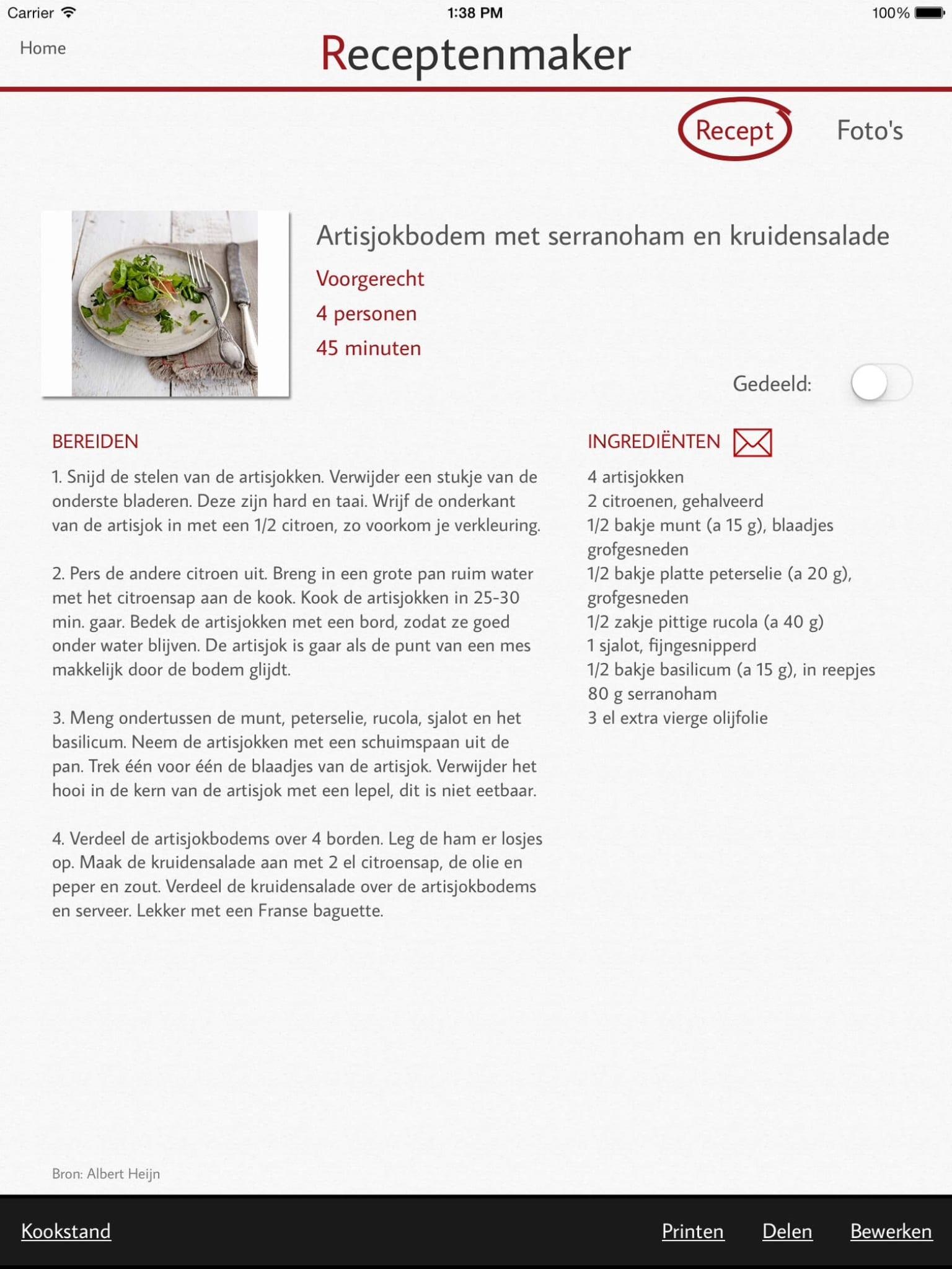 Wonderlijk Receptenmaker-app: Verzamel je favoriete recepten - Frankwatching TO-75
