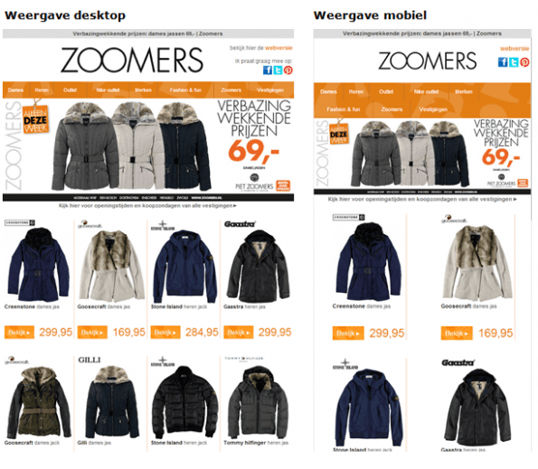 Mailing van Piet Zoomers