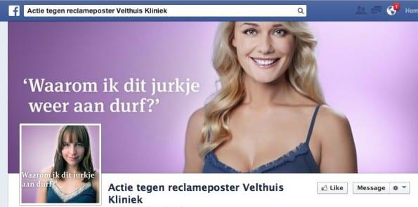 Actie tegen reclameposter Velthuis Kliniek