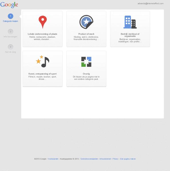 Een Google+ Pagina maken