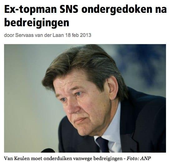 Elsevier.nl - Ex-topman SNS ondergedoken na bedreigingen-1