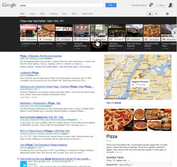 Google maps caroussel