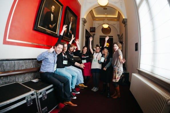Deel van het online content team TEDxAmsterdam 2013 (foto door Bibi Veth)