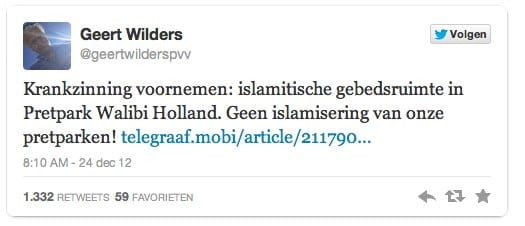 Wilders woest op Walibi-1-1
