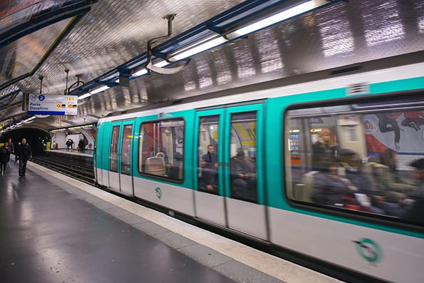 The subway train departing, november 27, 2012. Every day they bo