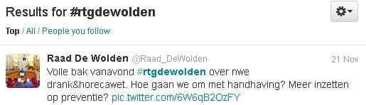 Volg de raad van gemeente De Wolden op twitter via #rtgdewolden