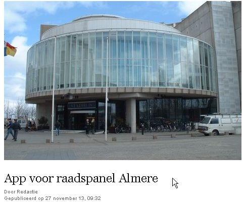 Raadspanel Almere sindskort ook via een app in te vullen
