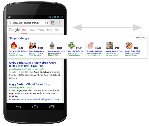 Google Shopping - mobile jan 2014