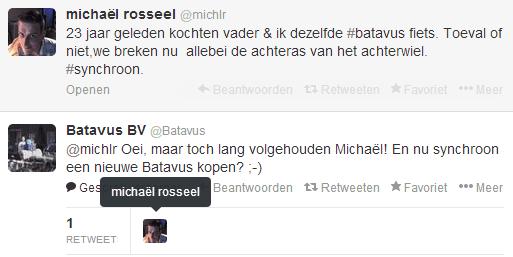 Batavus Twitter bericht