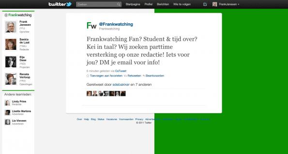 Tweet 19 oktober 2011